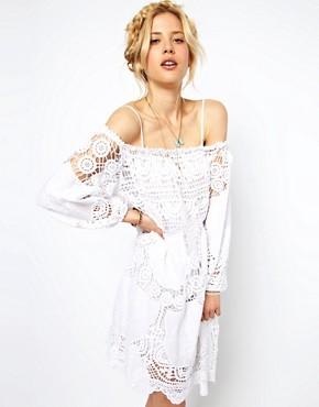 Image 1 ofASOS Premium Crochet Sundress