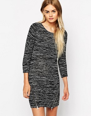 Image 1 of Only Spacedye Zip Front Sweater Dress