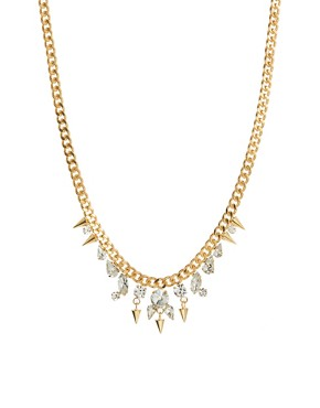 Image 1 of Nali Gold Diamante Drop Necklace