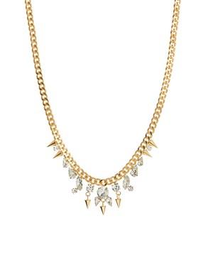 Image 1 ofNali Gold Diamante Drop Necklace