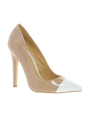 Image 1 of ASOS PROXY Pointed High Heels with Toe Cap