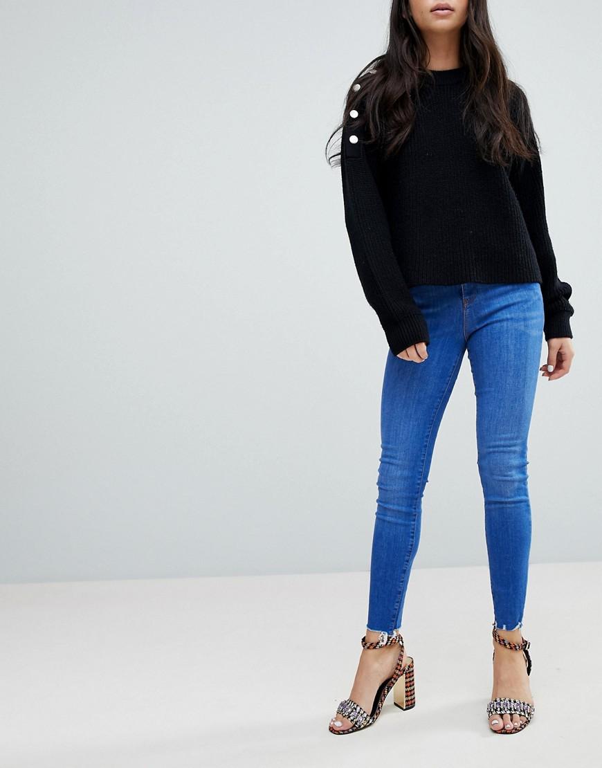 New Look - Shaper-Jeans mit hohem Bund - Blau