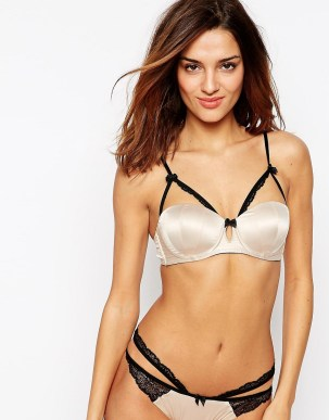 Image 1 of ASOS Marissa Padded Satin Caged Underwire Bra