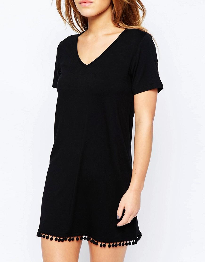Image 3 - ASOS PETITE - Robe t-shirt à pompons