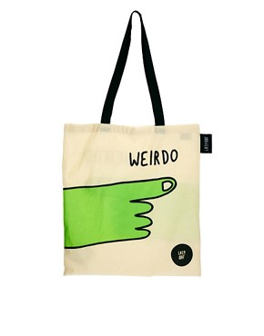 Image 1 of Lazy Oaf Weirdo Tote Bag