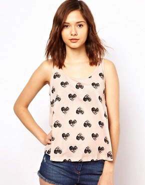 Image 1 of Pieces Heart Print Cami