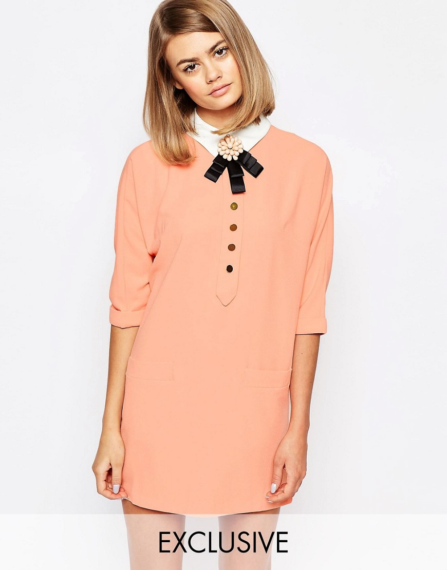 Image 1 ofSister Jane Sun Line Shift Dress With Collar Detail