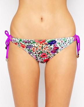 Minkpink Garden Floral Tie Side Bikini Bottoms