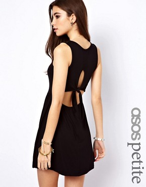 ASOS PETITE Exclusive Skater Dress With Tie Back