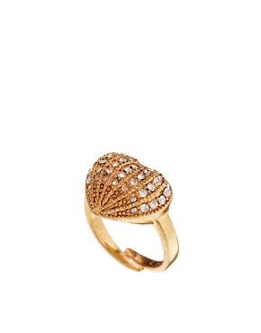 Image 1 - Pilgrim - Bague ajustable dorée motif cœur