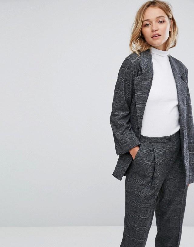 Monki Tailored Check Blazer, $64.0