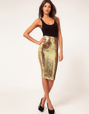 Image 1 ofASOS Pencil Skirt in Sequins