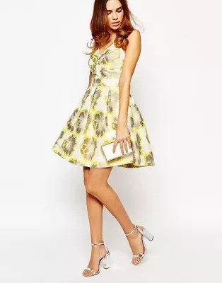 Floral Jacquard Dress Warehouse