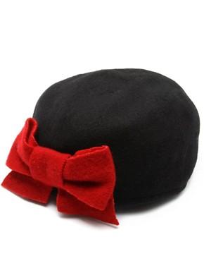 Helene Berman Wool Mix Bow Hat