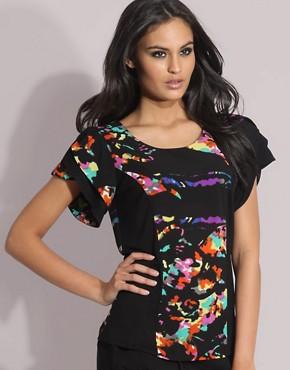 ASOS Floral Printed Short Sleeve Top