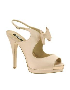 ASOS HEARTFELT Bow Platform Sandal