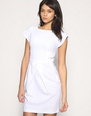 ASOS Workwear Linen Tulip Dress