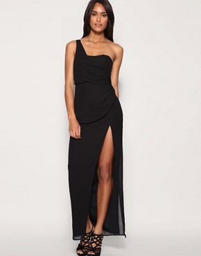 ASOS One Shoulder Chiffon Maxi Dress