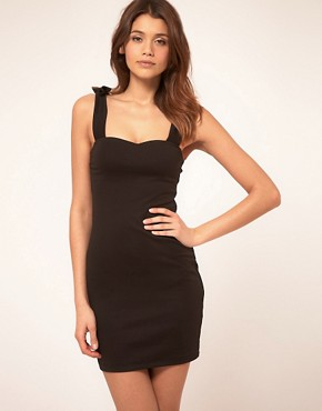 Image 1 of ASOS Bodycon Dress With Bow Straps