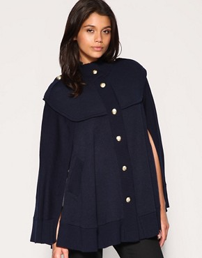 Image 1 of ASOS Military Knitted Cape