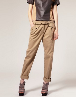 Image 4 of ASOS Extended Tab Belt Chino