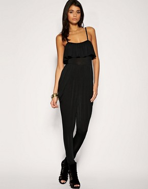 Image 1 ofPaprika Strappy Frill Front Jumpsuit