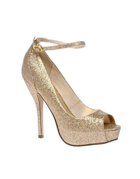 Image 1 of ASOS PARANORMAL Gold Platform Shoe