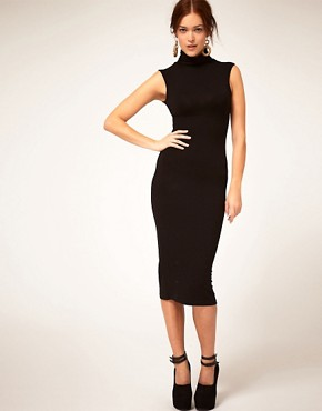 Image 1 of ASOS Sleeveless Polo Bodycon Dress