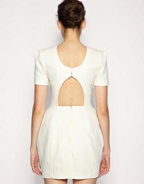 Image 2 ofASOS BLACK Exaggerated Hip Textured Dress