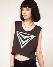 Illustrated People Crop 'Cryptonite' Vest