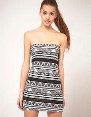 American Apparel Printed Bandeau Dress