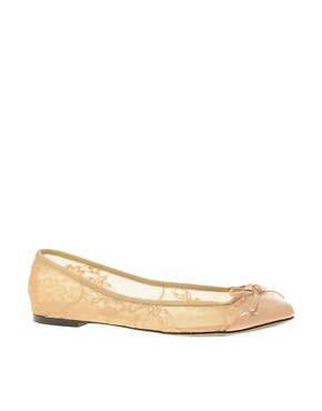 Image 1 of ASOS LACE Ballet Shoes with Bow