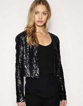 Image 1 ofKookai All Over Sequin Jacket