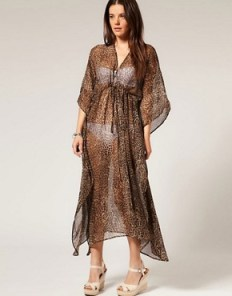 leapord print maxi dress beach cover up