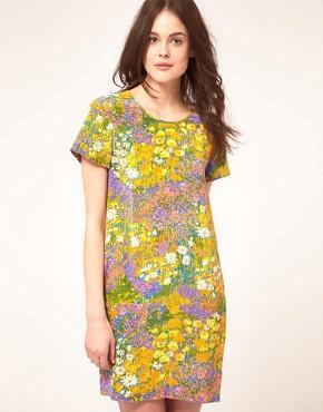 Image 1 ofWhistles Wild Flower Silk Dress