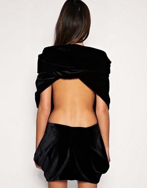 Image 2 ofLisa Jayne Dann Velvet Hooded Dress