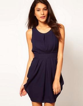 Image 1 ofASOS Sleeveless Tulip Tie Back Dress