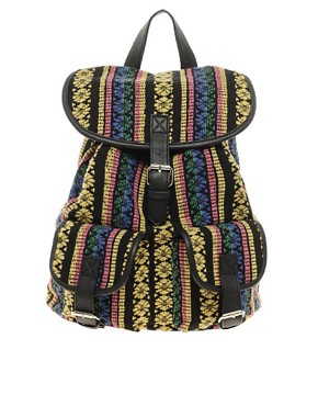 Image 1 of ASOS Ikkat Backpack