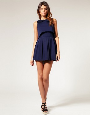 Image 4 of ASOS Open Back Dress with Peter Pan Collar