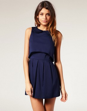 Image 1 of ASOS Open Back Dress with Peter Pan Collar