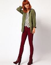 Current/ Elliot Skinny Jeans In Garnet