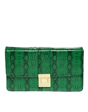 ASOS Faux Bright Snake Clutch Bag