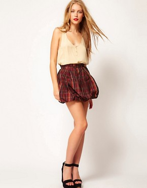 Image 1 of ASOS Mini Skirt In Tartan