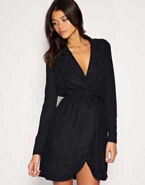 Image 1 ofVero Moda Low V Wrap Dress