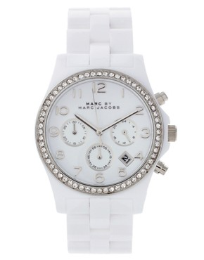 Image 1 ofMarc By Marc Jacobs White Bracelet Watch
