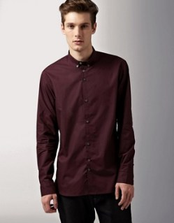 Image 1 ofPaul Smith Jeans Buttoned Down Collar Contrast Cuff Shirt
