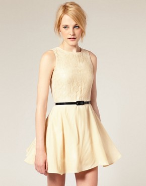 Image 1 of ASOS Sixties Skater Dress With Belt