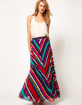 Image 1 of Coast Stripe Maxi Skirt