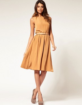 Image 1 ofASOS Midi Dress with Soft Skirt