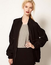 BACK by Ann-Sofie Back Zip Bomber Jacket